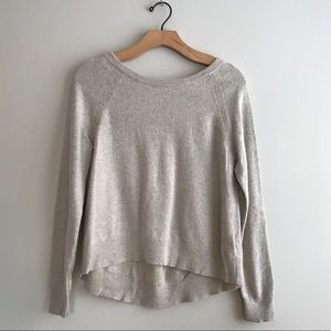 Banana Republic oatmeal metallic loose fit sweater